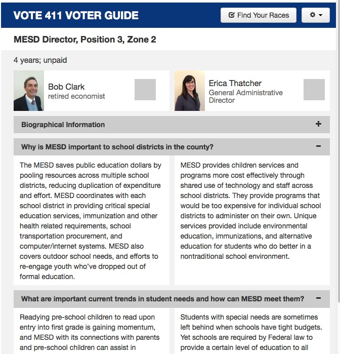 Compare and choose candidates