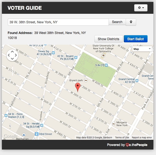 Confirm your address and start your ballot